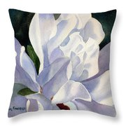 One Star Magnolia Blossom Throw Pillow by Sharon Freeman