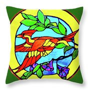 Orange Beauty Throw Pillow by Farah Faizal