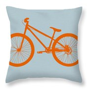 Orange Bicycle  Throw Pillow by Naxart Studio