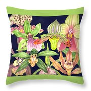 Orchids  Throw Pillow by Lucy Arnold