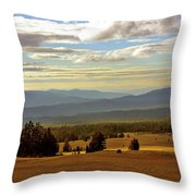 Oregon - Land of the setting sun Throw Pillow by Christine Till