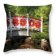 Orient - Bridge - Tranquility Throw Pillow by Mike Savad