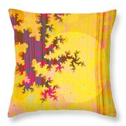 Oriental Moon Behind My Courtain Throw Pillow by Silvia Ganora