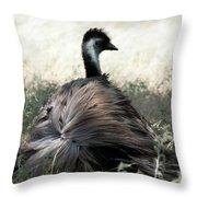 Ostracized Ostrich Throw Pillow by Douglas Barnard