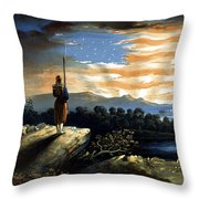 Our Heaven Born Banner Throw Pillow by War Is Hell Store