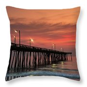 Outer Banks Sunrise Throw Pillow by John Greim