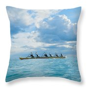 Outrigger Canoe Throw Pillow by Bob Abraham - Printscapes
