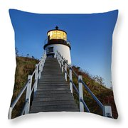 Owls Head Lighthouse Throw Pillow by John Greim