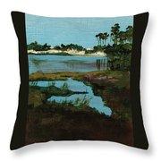 Oyster Lake Throw Pillow by Racquel Morgan