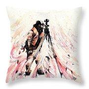 P J Throw Pillow by Rachel Christine Nowicki
