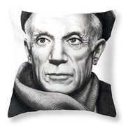 Pablo Picasso Throw Pillow by Murphy Elliott