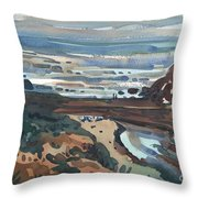 Pacific Beach Day Throw Pillow by Donald Maier