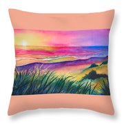 Pacific Evening Throw Pillow by Karen Stark