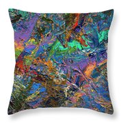 Paint Number 28 Throw Pillow by James W Johnson