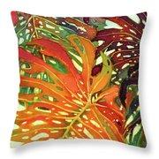 Palm Patterns 2 Throw Pillow by Deborah Younglao