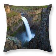 Palouse Falls Throw Pillow by Mike  Dawson