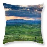 Palouse Storm Throw Pillow by Mike  Dawson