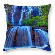 Paradise Falls Throw Pillow by Scott Mahon