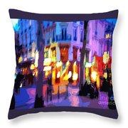Paris Quartier Latin 02 Throw Pillow by Yuriy  Shevchuk