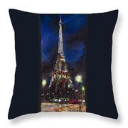 Paris Tour Eiffel Throw Pillow by Yuriy  Shevchuk