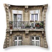 Paris Windows Throw Pillow by Elena Elisseeva