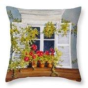 Parisian Window Throw Pillow by Mary Ellen  Mueller Legault