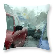 Parking Lot Throw Pillow by Mike McGlothlen