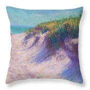 Past the Dunes Throw Pillow by Michael Camp