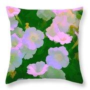 Pastel Flowers Throw Pillow by Tom Prendergast