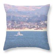 Pastel Sail Throw Pillow by Pharris Art