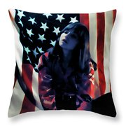 Patriotic Thoughts Throw Pillow by David Patterson