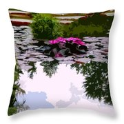 Patterns Of Peace Throw Pillow by John Lautermilch