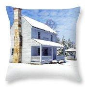 Patterson House Carnifax Ferry Battlefield Throw Pillow by Thomas R Fletcher