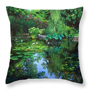 Peace Floods My Soul Throw Pillow by John Lautermilch