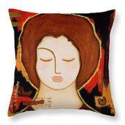 Peace Messenger Throw Pillow by Gloria Rothrock
