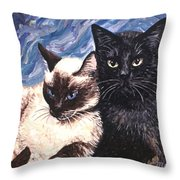 Peaceful Coexistence Throw Pillow by Linda Mears