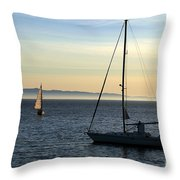 Peaceful Day In Santa Barbara Throw Pillow by Clayton Bruster