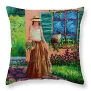Peaceful Thoughts Throw Pillow by David G Paul