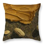 Peanut Butter And Peanuts Throw Pillow by James W Johnson