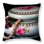 Pearls And Beads Throw Pillow by June Marie Sobrito