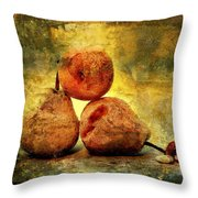 Pears Throw Pillow by Bernard Jaubert