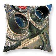 Peep Show Throw Pillow by Skip Hunt