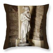 Peering Woman Throw Pillow by Marilyn Hunt