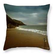 Pembrokeshire Throw Pillow by Angel  Tarantella