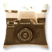 Pentax 110 Auto Throw Pillow by Mike McGlothlen