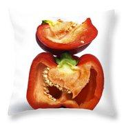 Peppers Throw Pillow by Bernard Jaubert