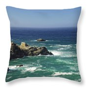 Perfect Mix Of Blue And Green Throw Pillow by Donna Blackhall