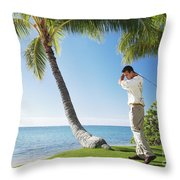Perfect Swing Throw Pillow by Brandon Tabiolo - Printscapes