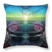 Perpetual Motion Landscape Throw Pillow by Otto Rapp