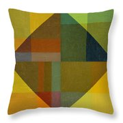 Perspective In Color Collage 8 Throw Pillow by Michelle Calkins
